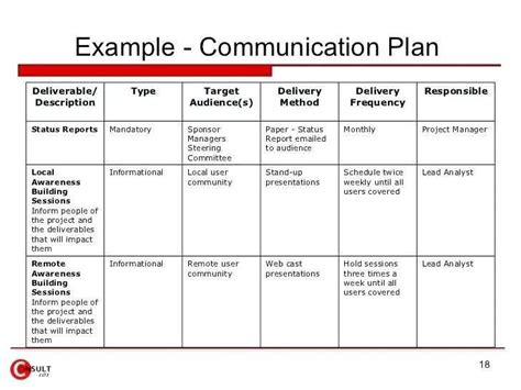 communication plan template for project management project management sle pdf new project