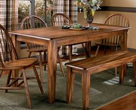 Dining Table Plus Bench And Vintage Country Style Dining Room Sets With