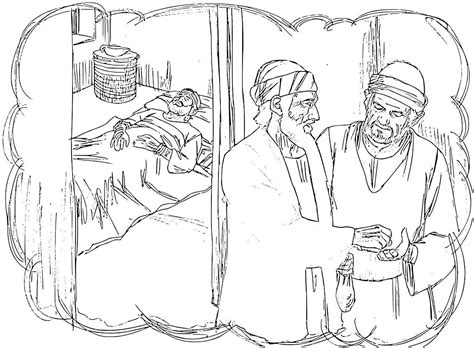 free coloring page for the good samaritan good samaritan coloring pages
