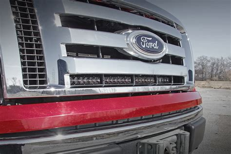 Ford F150 Led Light Bar by 30in Single Row Led Light Bar Grille Mounting Brackets For 09 14 Ford F 150 70526