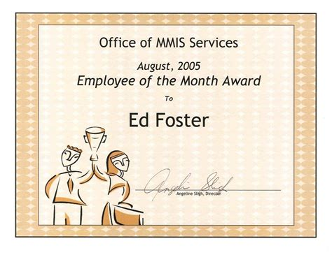 manager of the month certificate template carolina office of medicaid management information