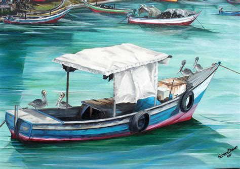 Best Home Design App Ipad pirogue fishing boat painting by karin dawn kelshall best