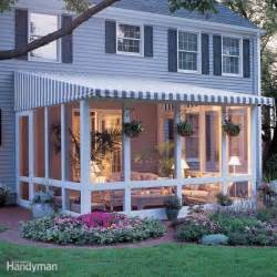 Awning Kits Do It Yourself How To Build A Screened In Patio The Family Handyman