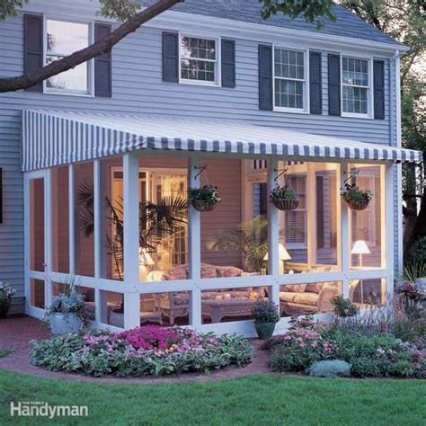 Lean To Sunroom Kits How To Build A Screened In Patio The Family Handyman