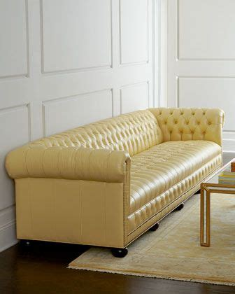 butter yellow leather sofa old hickory tannery zerenity 131 5 quot l leather sofa