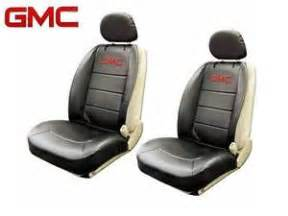 Seat Covers For Gmc Gmc Elite Seat Covers Black Synthetic Leather Side Air Bag
