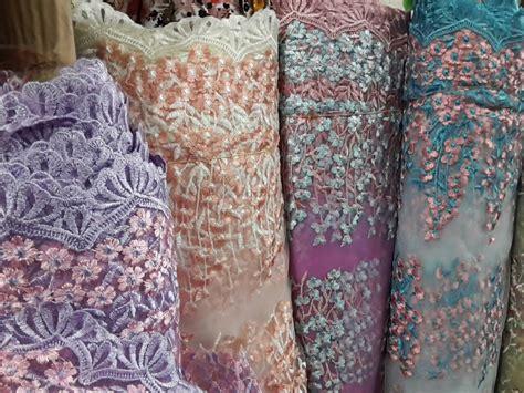 Bahan Linen Bordir Harga Permeter jual tile bordir 02 kain kebaya bahan kebaya kain