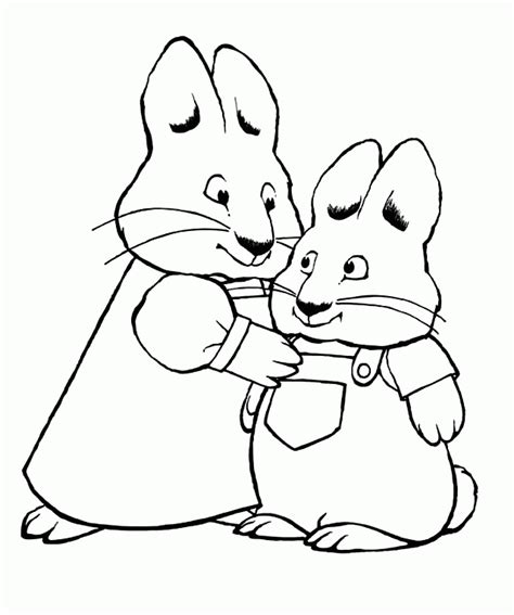 max and ruby coloring pages to print coloring home