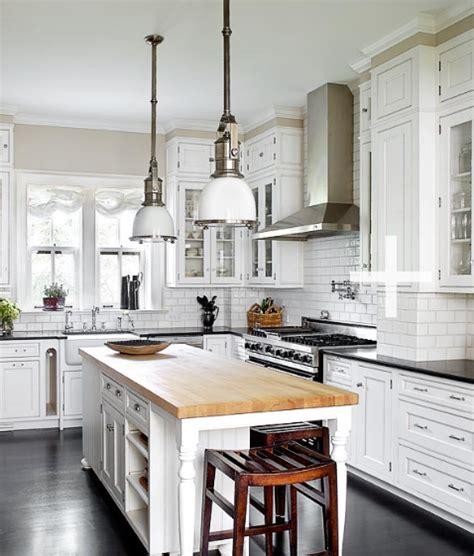 white kitchen with island butcher block island tops design decor photos