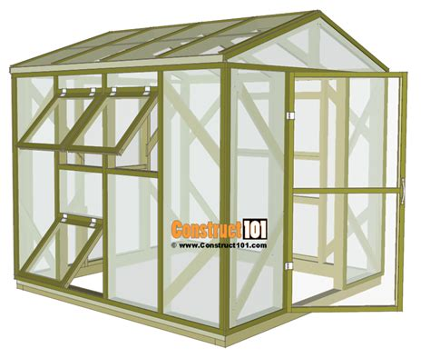 green house floor plans greenhouse plans 8 x8 step by step plans construct101