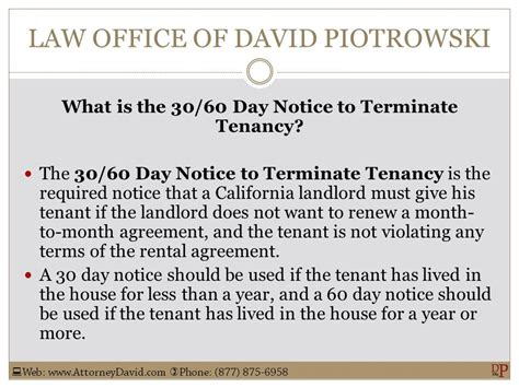 60 day lease termination notice template california 30 60 day notice to terminate tenancy sle