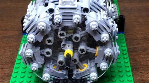 functional lego  cylinder radial engine