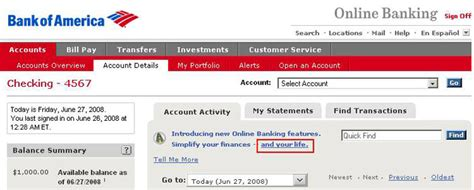bank of america home banking search results million