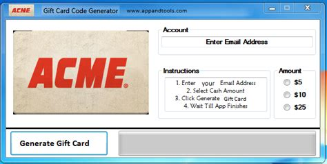 Acme Gift Cards - acme gift card generator online working tool with download