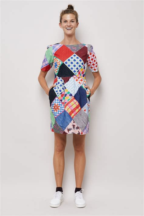 Patchwork Fashion - gorman patchwork cord dress dresses clothing
