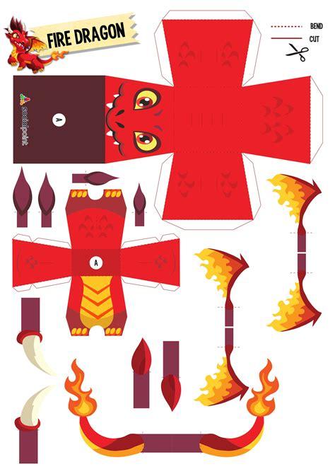 printable paper dragon paper toy firedragon diy pinterest paper toys toy