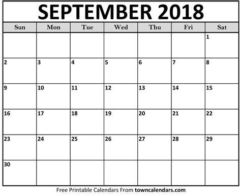 printable calendar specific dates printable september 2018 calendar towncalendars calendar pro