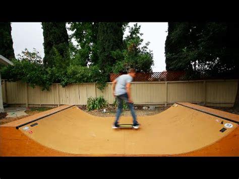 halfpipe in backyard halfpipe in the backyard youtube