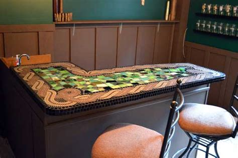 mosaic tile bar top how to mosaic bar countertops how to mosaic
