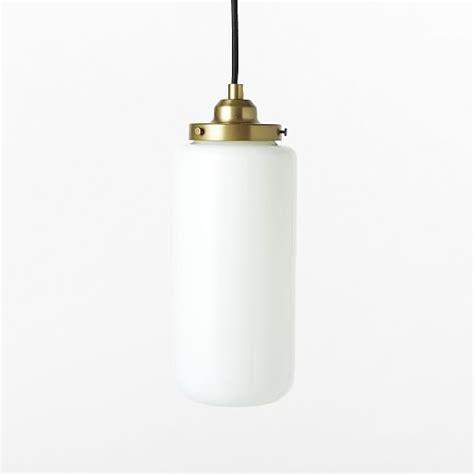 glass jar pendant milk west elm
