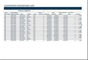 Office Equipment Inventory Template by Ms Excel Equipment Inventory List Template Excel Templates