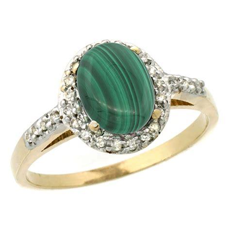 1 77 ctw malachite engagement ring 10k