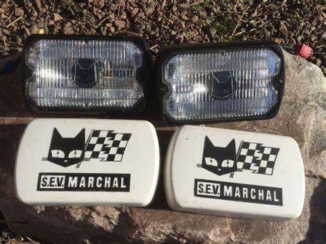 find  vintage sev marchal  road lamps wcovers