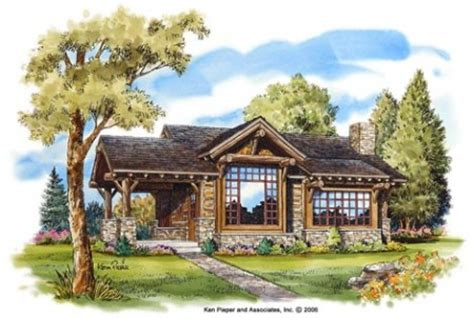 log and stone house plans stone mountain cabin plans