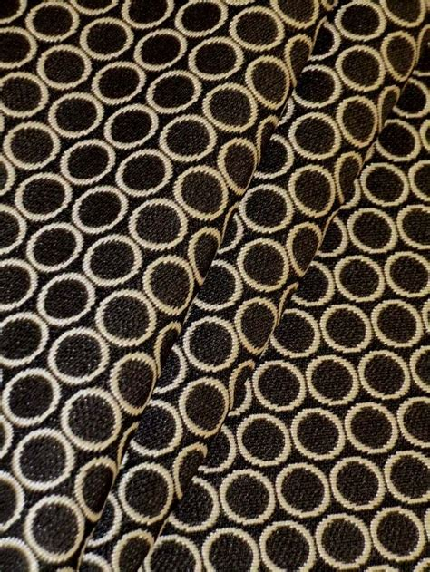 commercial upholstery fabric manufacturers contract pattern steel circles color antique white dark