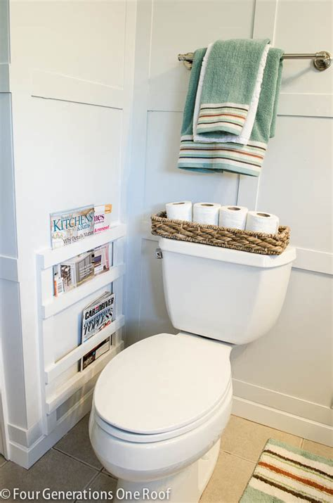 wall magazine holder bathroom bathroom diy magazine rack tutorial four generations