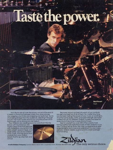 Neil Peart Meme - neil peart 80 s zildjian ad rush the greatest band on