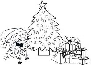spongebob christmas coloring pages coloring
