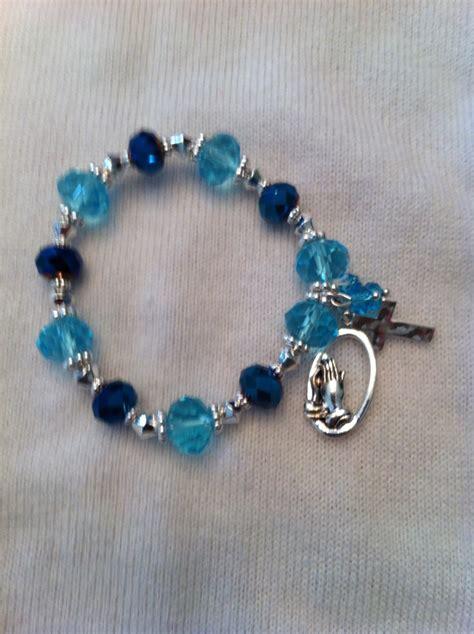 Blue glass bead bracelet   Beads   Pinterest