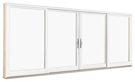 wood ultrex 4 panel sliding door exterior view