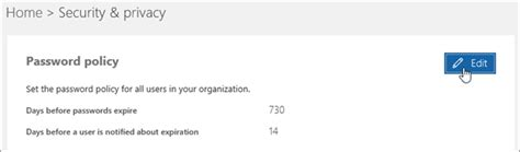 Office 365 Your Password Has Expired Set The Password Expiration Policy For Your Organization