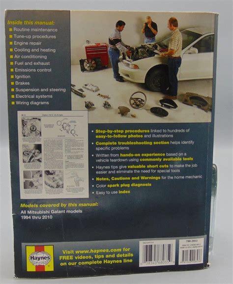 service manual hayes car manuals 2008 mitsubishi galant user handbook 2007 mitsubishi galant mitsubishi galant haynes repair manual 1994 2010 kc s attic