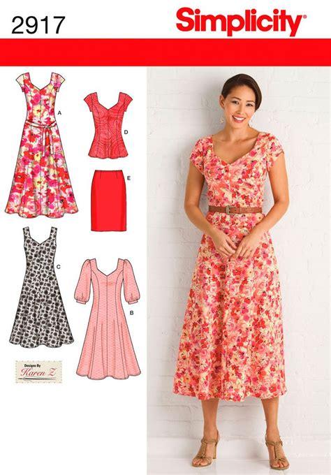 dress pattern designers uk simplicity pattern s2917 misses plus size dresses