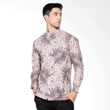Baju Kemeja Batik Pria Slim Fit Modern Lengan Pendek Ls83 jual adiwangsa batik modern slim fit kemeja pria abu 034 harga kualitas terjamin