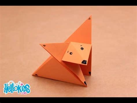 le origami le renard origami hellokids