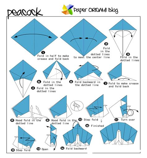 How To Make An Origami Peacock Step By Step - animals origami peacock origami paper origami guide