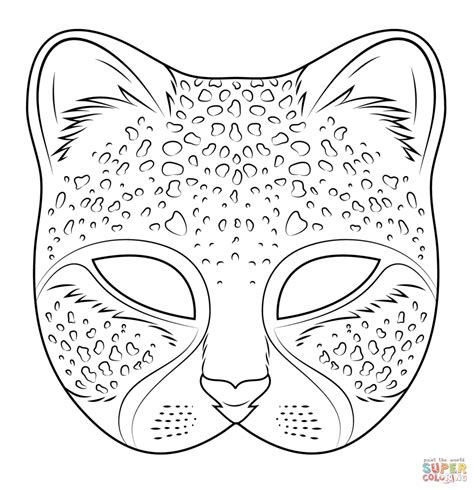 tiger mask coloring page cheetah mask coloring page free printable coloring pages