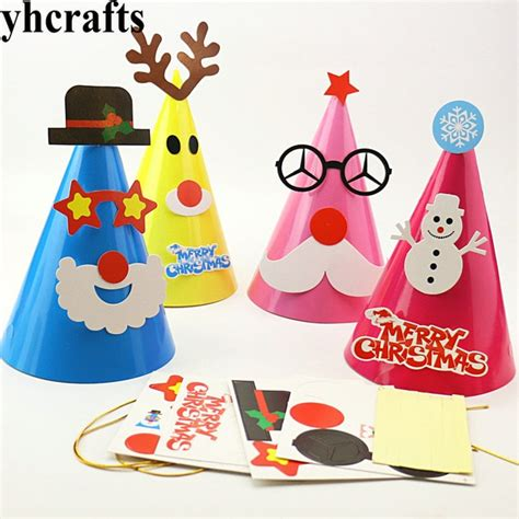 design own xmas hat 4pcs lot 4 design choose diy cone hats create your own kindergarten crafts early