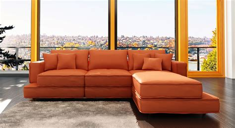Orange Sofas Living Room Orange Sofa Freshnist Design