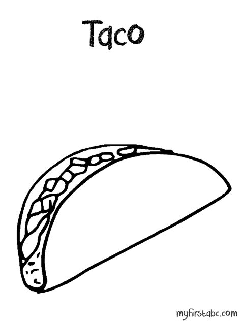 taco shell coloring page coloring coloring pages