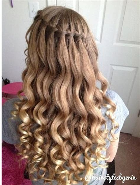 homecoming hairstyles waterfall braid pinterest the world s catalog of ideas