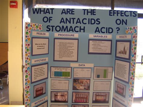 What Effect Does Antacids Have On Stomach Acid Science Fair Project Poster