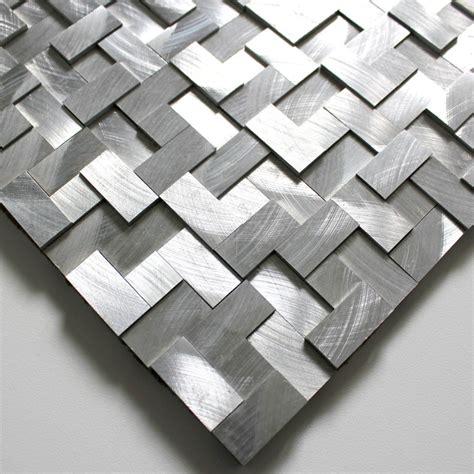 tile mosaic aluminum tile kitchen splashback konik carrelage inoxfr