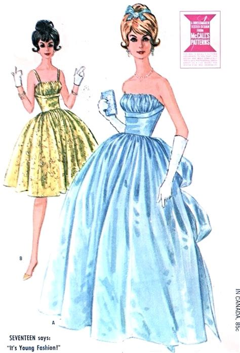 vintage gown pattern 1960s beautiful formal ball gown or cocktail dress pattern