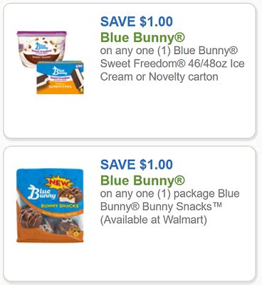 printable rabbit food coupons blue bunny coupons 1 1 blue bunny sweet freedom ice