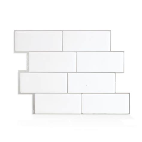 smart tiles metro grigio 11 56 in w x 8 38 in h peel and stick decorative mosaic wall tile smart tiles metro cagnola 11 56 in w x 8 38 in h
